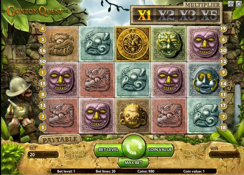 Игровой автомат Gonzo Quest