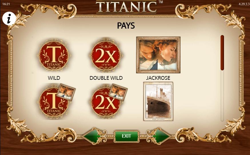Игровой автомат Titanic бонусы