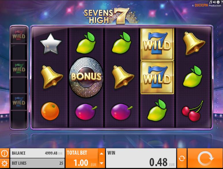Онлайн автомат Sevens High