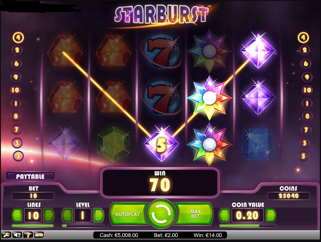Онлайн автомат Starburst