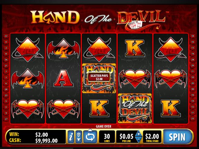 Онлайн автомат Hand of the Devil