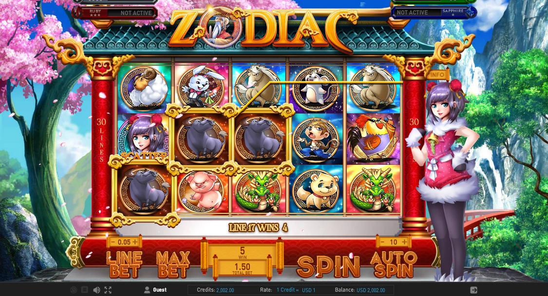 Онлайн автомат Zodiac